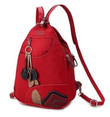 Cuero Pu Casual Backpack mochilas mochila Rojo retro Mochilas bandolera negro De Senderismo Escolares Femeninas mochilas Viaje Sjboozo Bolso Negocios qzd8vw8x