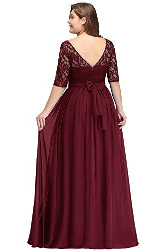 Women Plus Size Chiffon Prom Homecoming Dress Burgundy 22W ...