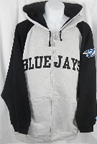 Toronto Blue Jays MLB Majestic Full Zip Hoodie Sweatshirt Big & Tall Sizes (3XL) (Toronto Pocket Jays Blue)