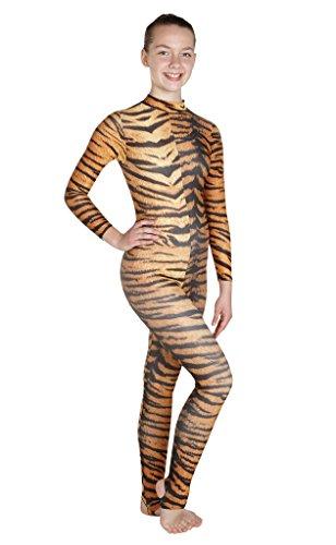 Wholesale Dance - Animal Siberian Tiger Print Lycra Catsuit, Unitard, Bodysuit, Dance, Fancy Dress (#Elsa) Siberian Tiger