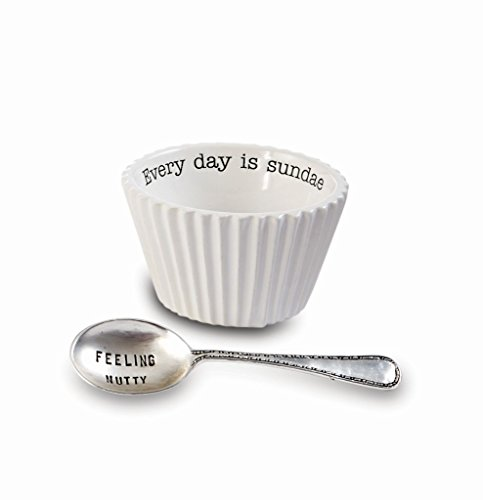 - Mud Pie Circa Dining Ice Cream Sundae Bowl & Spoon Set (Every Day)