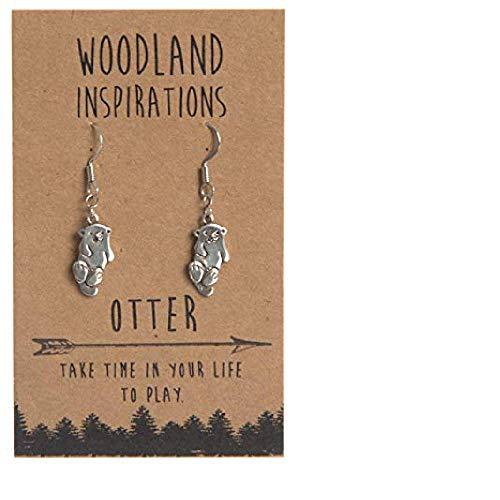 Shag Wear Woodland Inspirations Pewter Earrings (Otter) ()