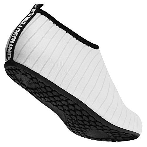 Barerun Kids Men Women New Light Weight Comfort Sole Easy Walking Athletic Slip On Water Shoes (37/38,6.5-7.5 B(M)) White … by Barerun (Image #3)