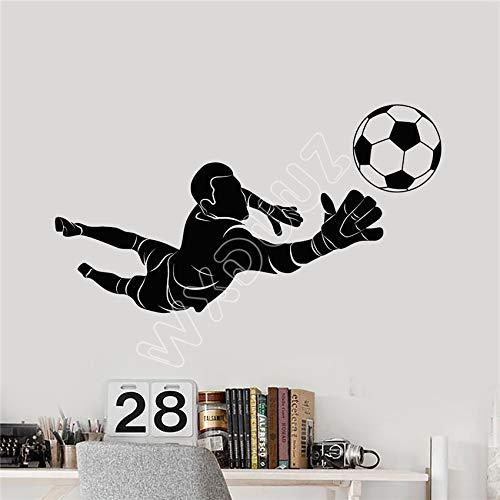 hllhpc Vinilo Tatuajes de Pared Fútbol Portero Jugador Bola ...