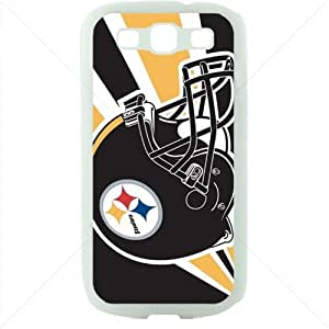 NFL American football Pittsburgh Steelers Samsung Galaxy S3 SIII I9300 TPU Soft Black or White case (White)