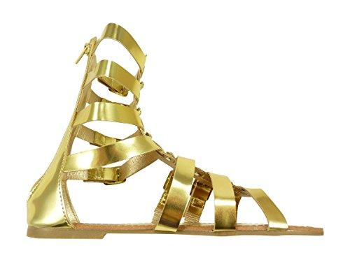 Chaussmaro - Sandalias de vestir para mujer Dorado - Gold - Doré