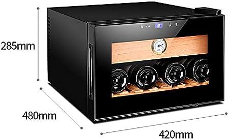 VIY Nevera vinos vinoteca 60 W Panel táctil 38 dB Madera de Cedro 25 litros 4 Botellas LED Negro
