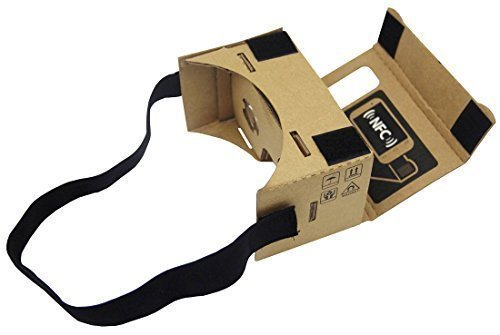 DAISEN 2016 New Google Cardboard 3d Vr Virtual Reality DIY 3D Glasses for Smartphone with NFC and Headband - Easy Setup