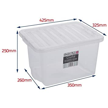Wham Plastic Storage Boxes Pack Of 5 24 Litre