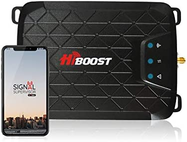 HiBoost 3-Band Cell Phone Signal Booster Up to 1000 sq ft for Home & OfficeBoosts Band 12/17/13/5 3G 4G LTE Voice and Data for VerizonT-Mobile AT&TCellular Repeater Amplifier KitsAPP