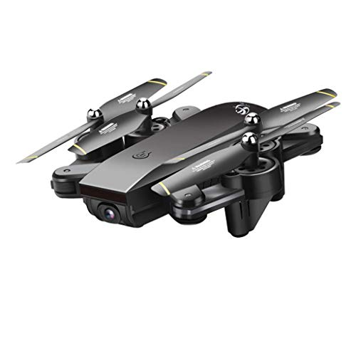 720P Dual HD Camera S169 Drone Selfie WiFi FPV Foldable RC Quadcopter Toys Multirotors (Black) ()