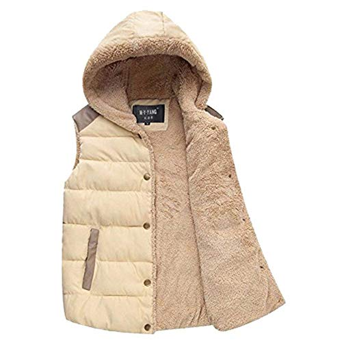 Coat Huixin Pockets Buttons Vest Jacket Beige Jackets Wool Fleece Apparel Outwear Men's Coat Warm Sleeveless Coat Side r7r0q