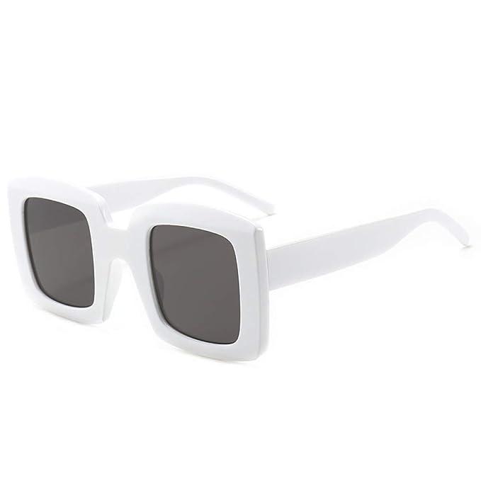 Yangjing-hl Gafas de Sol cuadradas Gafas de Sol de Mujer ...