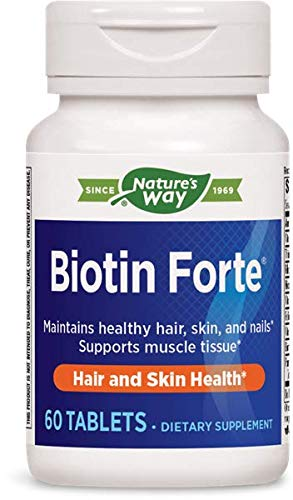 Nature's Way Biotin Forte 5 Milligrams Without Zinc 60 Tablets. Pack of 3 bottles by Nature's Way