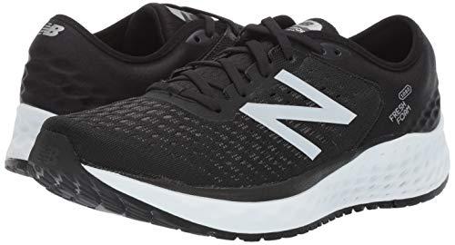 New Balance Men's 1080v9 Fresh Foam Running Shoe, Black/White, 7.5 D US by New Balance (Image #6)