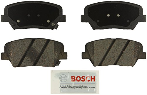 Bosch BE1432 Blue Disc Brake Pad Set for Hyundai: 2012-15 Azera, 2010-12 Santa Fe; KIA: 2011-13 Sorento - FRONT