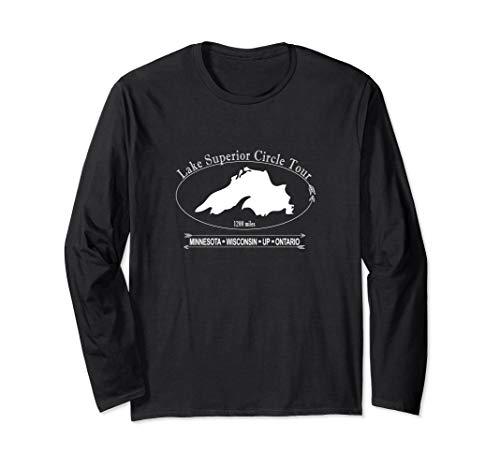 Lake Superior Circle Tour: Minnesota, Wisconsin, UP, Ontario Long Sleeve T-Shirt - Lake Superior Circle