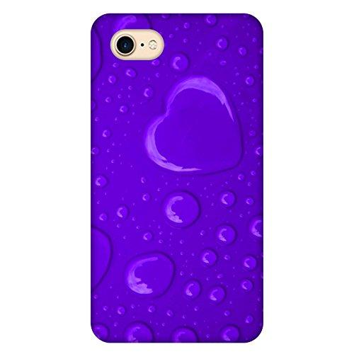 Coque Apple Iphone 7 - Coeur de pluie violet
