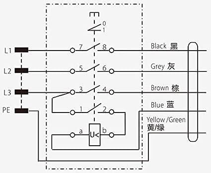 KEDU KOA7 Geräteschalter Maschinenschalter 380/400 V 3 Phasen mit 0 ...