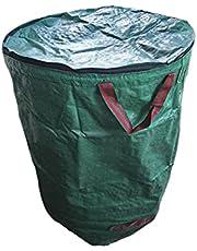 Tuinafvalzak, afvalzakken voor tuinafval, met handvat en opvouwbaar design, van hoogwaardig polypropyleenweefsel, duurzaam, sterk en milieuvriendelijk