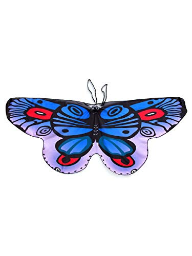 CISMARK Kids Soft Chiffon Material Butterfly Wings for Party Use Blue