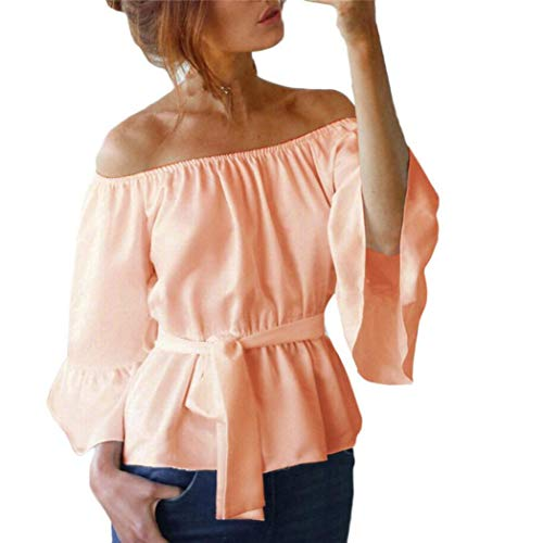 WomensT-shirtClearance,KIKOY Casual Loose Off Shoulder Tops