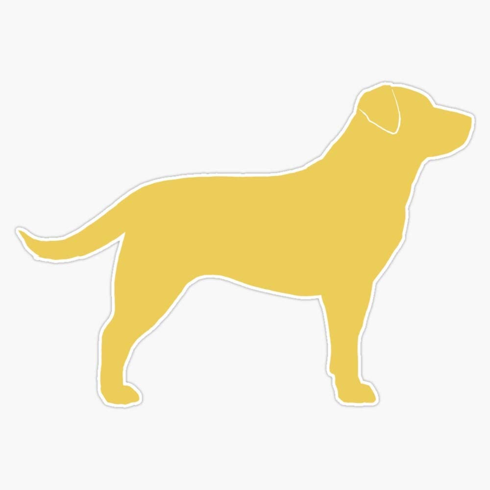 "Yellow Labrador Retriever Dog Silhouette(S) Vinyl Waterproof Sticker Decal Car Laptop Wall Window Bumper Sticker 5"""