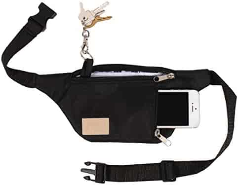X80 Multi-Use Two Zipper Fanny Pack with Cell Phone Pocket