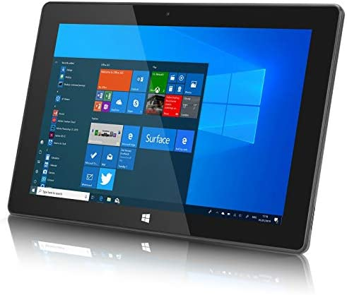 10inch Windows Tablet, Windows 10 Ultra Slim Tablet PC-4GB RAM, 64GB Storage, USB 3.0, 5MP and 2MP Cameras, 1280x800 IPS HD Display, TF Card Slot, Black