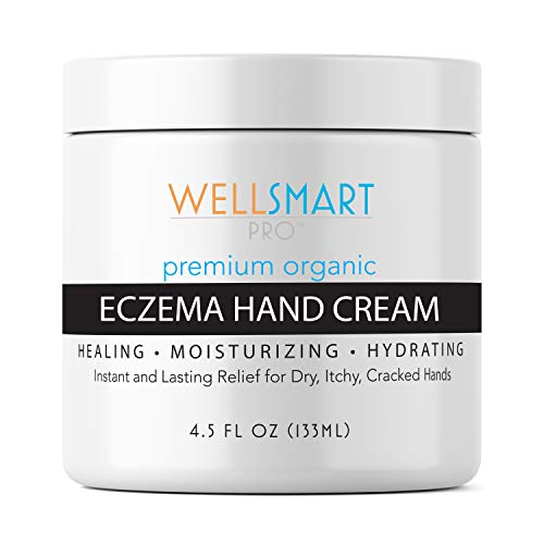 Eczema Hand Cream - Premium Organic Hand Moisturizer Treatment - Faster, Longer Relief for Dry, Cracked Hands & Fingers - Soothes Rash & Irritation - For Adults, Kids, Baby - Fragrance-Free (Best Hand Cream For Severe Eczema)