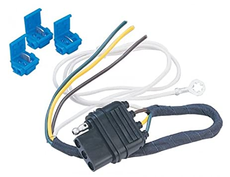 amazon com hopkins 41225 litemate vehicle to trailer wiring kit rh amazon com 4 Wire Trailer Wiring Diagram 7 Prong Trailer Wiring Diagram