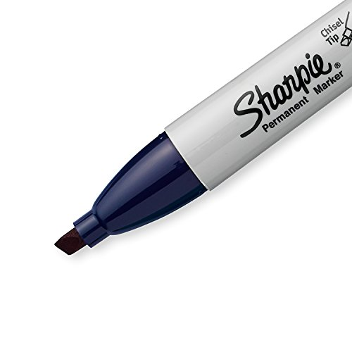 new Sharpie Permanent Markers, Broad, Chisel Tip, Single, Navy (1927300)
