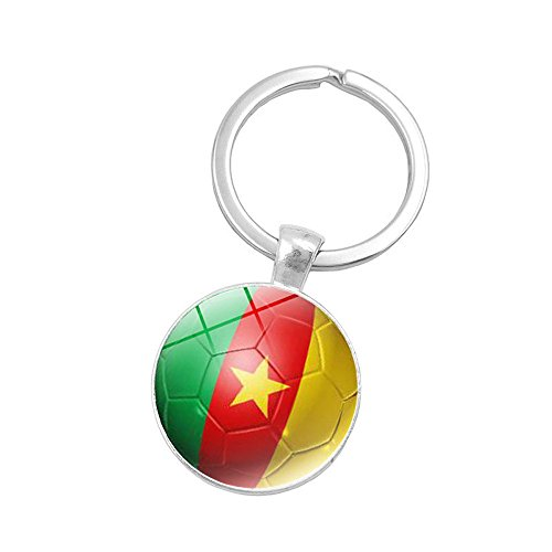 2018 Russia World Cup Flag Key Chain Soccer Football Team Keys Ring (Cameroon)