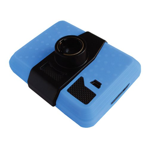 2in1 Combo! Garmin GPS Silicone Skin Case Blue Plus Screen Protector! For Use with 3.5 Inch Screens: Garmin Nuvi 200 / 250 / 260 / 270 / 205 / 255 / 265T / 275T (Does Not Include Garmin Gps!)
