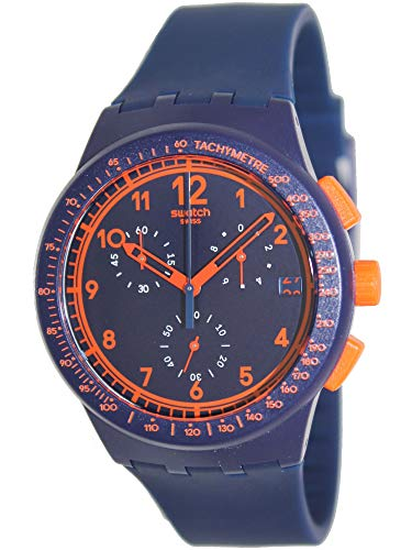 Swatch Men's STSUSN401 Originals Rebirth Blue Analog Display Quartz Blue Watch