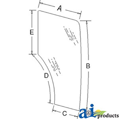 A-44910452 Ford New Holland Parts Glass Door; Rh TN55D ; TN55S; TN55S ; TN60DA ; TN60SA ; TN60VA ;