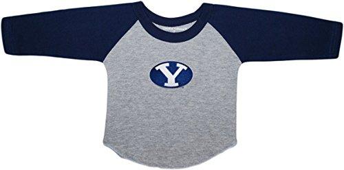 Brigham Young University BYU Cougars Baby and Toddler 2-Tone Raglan Baseball Shirt Navy