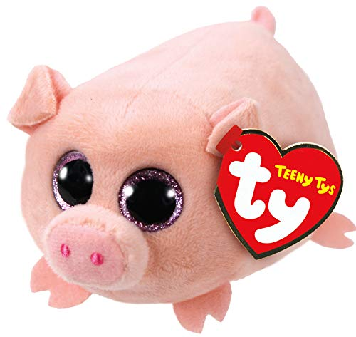 TY Beanie Boos - Teeny Tys Stackable Plush - CURLY the Pig (4 - Stackable Italian