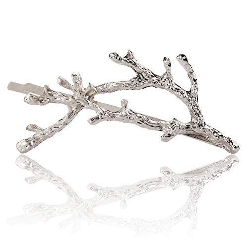Shangwelluk Elegant Vintage Deadwood Twig Bobby Pin Hairpin for Women Girl - 1 Pcs - Hair Clip Barrette Decorative Accessories for Styling, Party, Birthday, Bridal