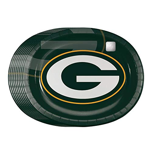 Green Bay Packers Oval Party Platters, Pack of 50 ()