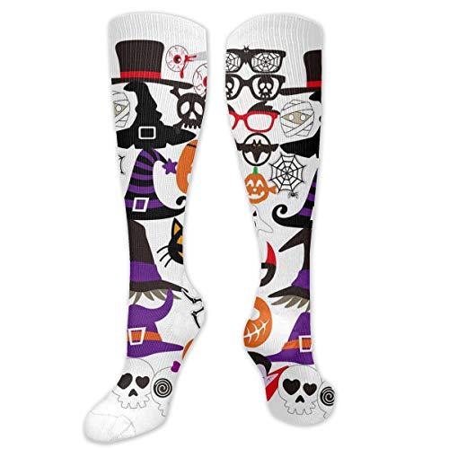 FGUYL Halloween Photo Booth Knee High Socks Extra Long Athletic Sport Tube Socks ()