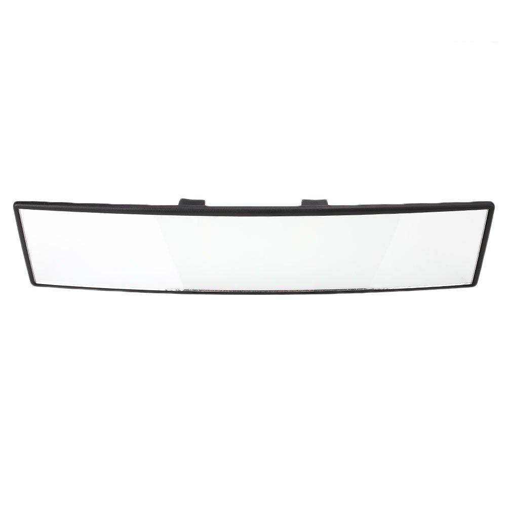 TRIXES Miroir R/étroviseur Courbe Extra-Large 300 mm Panoramique avec Clip Angle Mort Apprenti Conducteur