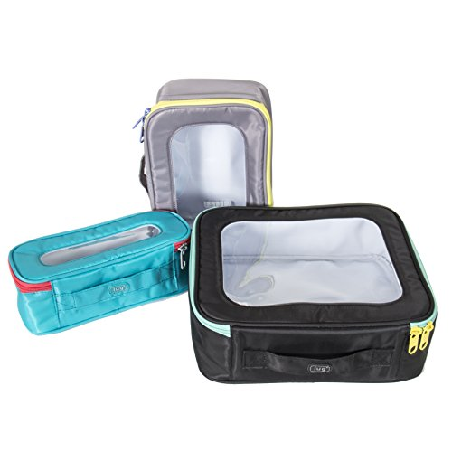 Lug Bento Box 3 Piece Container Set-Victory Collection, Midnight Black Collection 3 Piece Luggage Set