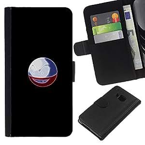 All Phone Most Case / Oferta Especial Cáscara Funda de cuero Monedero Cubierta de proteccion Caso / Wallet Case for HTC One M7 // Poke Monster Ball