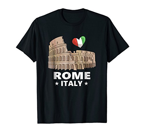 I Love Rome Italy T-Shirt Roman Colosseum Gift