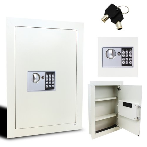 XtremepowerUS Electronic Insert Wall Safe Security Lock Box