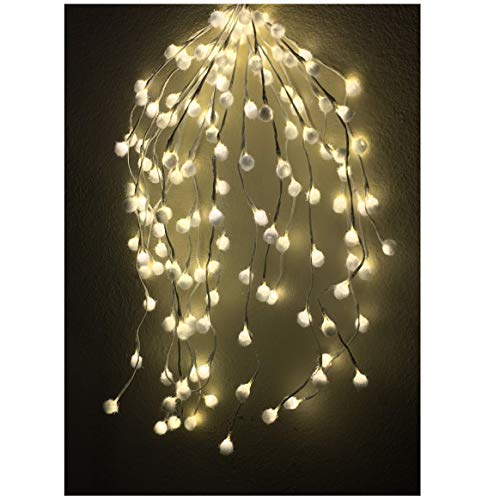 Unique LED String Lights make your Christmas, Holliday and Party decoration to next level-140 LED String lights, 2.3 ft Long Could be the Only Cascading Light feature, your Christmas Tree need!