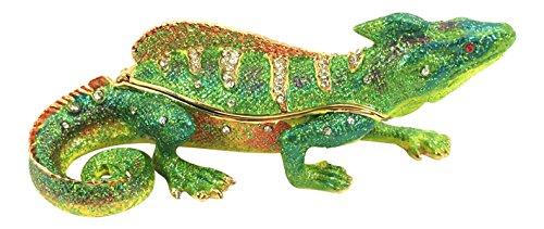 (Kubla Craft Iguana Trinket Box, Accented with Austrian Crystals )