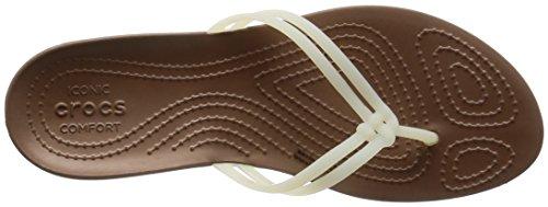 Flop Women's Bronze White Flip Crocs Isabella qtpUPdxd