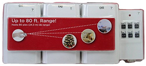 Wireless Outlets with Remote Control - Holiday Time - 3 Pack